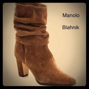 Manolo Blahnik slouchy Boots